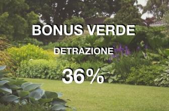 BONUS VERDE per giardini e balconi.  Detrazioni al 36% per il verde privato.
